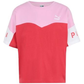 《期間限定 セール開催中》PUMA レディース T シャツ ピンク XS コットン 100% PUMA XTG Colorblock Tee