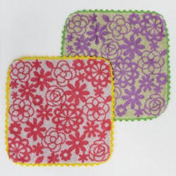 【アウトレット】タオルハンカチ2枚組 パピエ PE200602 1袋(2枚)