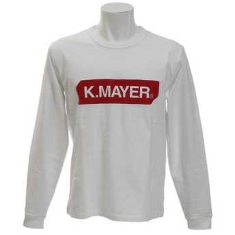 クリフメイヤー(KRIFF MAYER) ボックスロゴ 長袖Tシャツ 1743103-1-WHT (Men's)