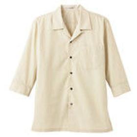 ボンマックス ブロードオープンカラー七分袖シャツ ベージュ LL FB4530U-1-LL (直送品)