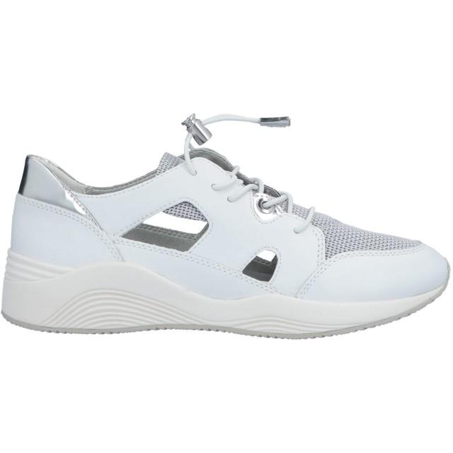 《9/20まで! 限定セール開催中》GEOX レディース スニーカー&テニスシューズ(ローカット) ホワイト 35 革 / 紡績繊維