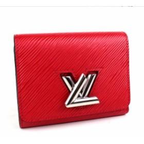 ルイヴィトン 三つ折り財布 ポルトフォイユ・ツイスト レッド 極美品 i741 【中古】