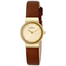 【当店1年保証】スカーゲンSkagen Women's SKW2175 Freja Saddle Leather Watch