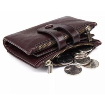 本革 財布 牛革2つ折り 財布 折り財布 小銭入れ カード入れ レザー メンズ サイフ ウォレット 小銭 お札 コインケース