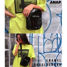 【セール開催中】ANAP(アナップ)エナメルロゴショルダーバッグ