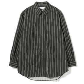 IG / ビッグ B.D ストライプシャツ メンズ カジュアルシャツ BLACK M