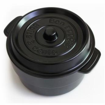 弁当箱 ココポットラウンド ブラック 電子レンジ・食洗機対応(弁当箱 お弁当箱 ランチボックス 丼 どんぶり)001-3559