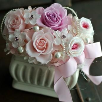 さくら色ピンクローズ♪プリザーブドフラワー 響花