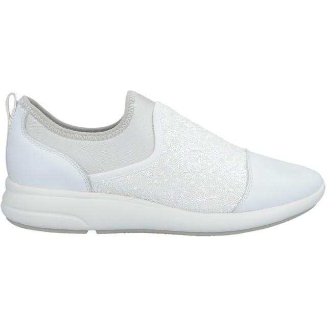 《期間限定セール開催中!》GEOX レディース スニーカー&テニスシューズ(ローカット) ホワイト 38 革 / 紡績繊維
