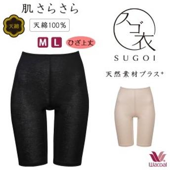 【B】28%OFF ワコール スゴ衣 天然素材プラス 肌さらさら ひざ上丈 インナーボトム(M・Lサイズ)HLD470 [m_b]