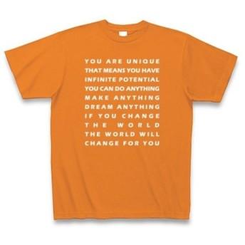 ◆ポエム系◆文字◆ロゴ◆メッセージ◆半袖◆Tシャツ◆オレンジ◆各サイズ選択可