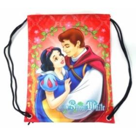 ディズニープリンセス 白雪姫 ナップサック 【持ち手付き レッド 赤色 手提げ袋 バッグ かばん】