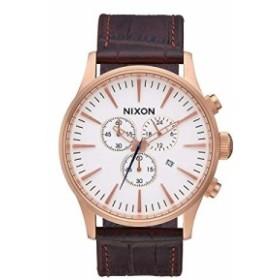 【当店1年保証】ニクソンNixon Sentry Chrono Leather A405-2459 Mens Chronograph Design Highlight
