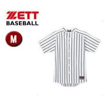 ZETT/ゼット  BU631  ワイドストライプ リブメッシュシャツ(フルオープンスタイル) 【M】 (ホワイト×ネイビー)