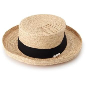 anatelier アナトリエ ラフィアパールカンカン帽 528-06103
