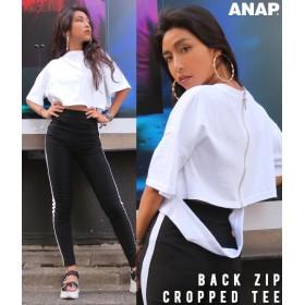 【セール開催中】ANAP(アナップ)バックZIPクロップドTシャツ