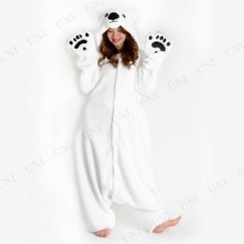 コスプレ 仮装 SAZAC(サザック) フリース着ぐるみ シロクマ コスプレ 衣装 ハロウィン 仮装 メンズ 可愛い アニマル 動物 パジャマ レデ