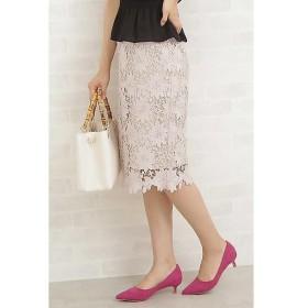 N.Natural Beauty Basic / エヌ ナチュラルビューティーベーシック ビッグフラワーケミカルレースタイトスカート