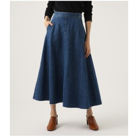 AZUL BY MOUSSY アズールバイマウジー CUT OFF FLARE DENIM LONG SKIRT
