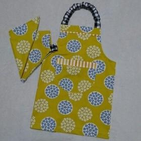 ●再販●子供エプロン&三角巾★circleflower北欧