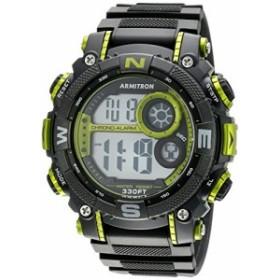 【当店1年保証】アーミトロンArmitron Men's 40/8284LGN Lime Green Accented Digital Chronograph Bl