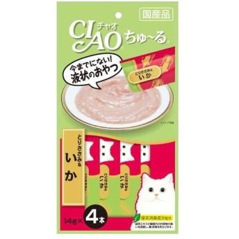 いなばペットフード CIAOちゅ〜るとりささみ&いか14g×4 猫用フード
