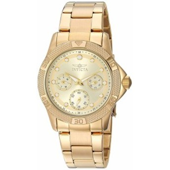 【当店1年保証】インヴィクタInvicta Women's Angel Quartz Watch with Stainless-Steel Strap, Gold,