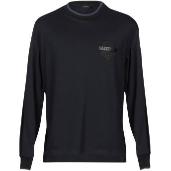 《セール開催中》BYBLOS メンズ スウェットシャツ ダークブルー 46 ポリエステル 92% / ポリウレタン 8%
