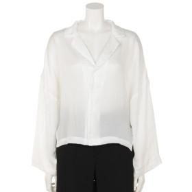 68%OFF DOUBLE NAME (ダブルネーム) オープンカラーショートシャツ オフ白