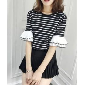 新品 Tシャツ ブラック Mサイズ レディース 春夏 カットソー 半袖