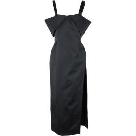 《セール開催中》OFF-WHITE レディース 7分丈ワンピース・ドレス ブラック 40 アクリル 57% / ナイロン 37% / ポリウレタン 6%