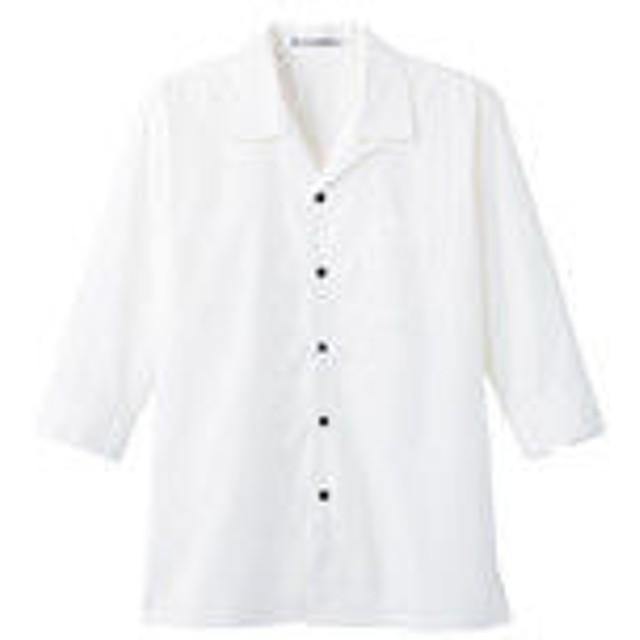 ボンマックス ブロードオープンカラー七分袖シャツ ホワイト 3L FB4530U-15-3L (直送品)