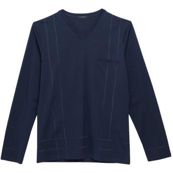 《セール開催中》LA PERLA メンズ アンダーTシャツ ダークブルー S コットン 92% / ポリウレタン 8%