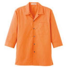 ボンマックス ブロードオープンカラー七分袖シャツ オレンジ M FB4530U-13-M (直送品)