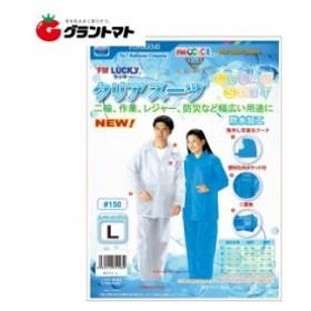 #150クリアスーツ ホワイト Lサイズ レインコート トオケミ