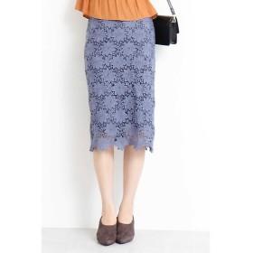 N.Natural Beauty Basic / エヌ ナチュラルビューティーベーシック ケミカルレースタイトスカート