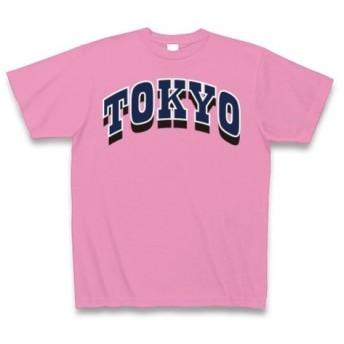 ◆TOKYO◆文字◆ロゴ◆ヘビーウェイト◆半袖◆Tシャツ◆ピンク◆各サイズ選択可