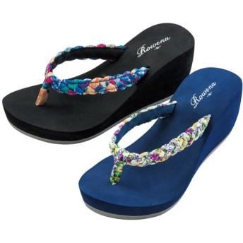 【格安-女性靴】レディース軽量厚底トングサンダル