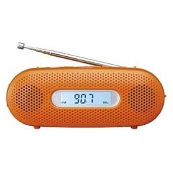 パナソニック 【ワイドFM対応】FM/AM 手回し充電ラジオ(オレンジ) RF-TJ20-D