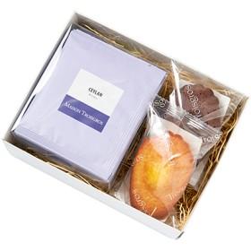 [トロワグロ]マドレーヌ&紅茶セット(ギフトBOX入り) 菓子