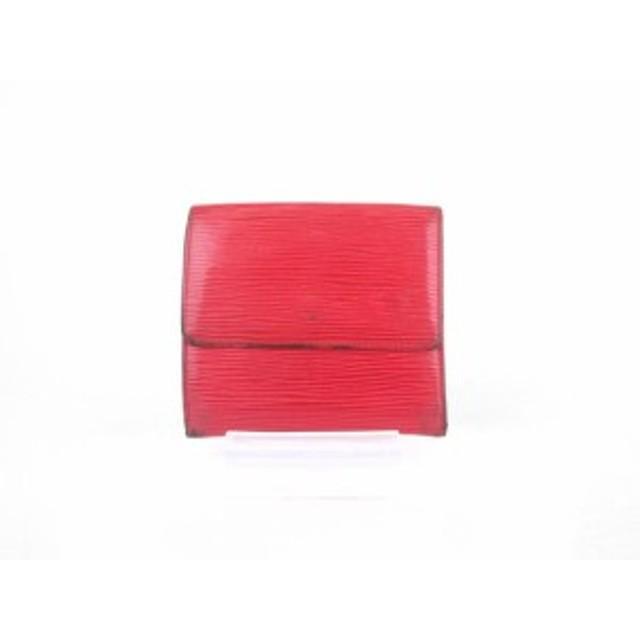 528d42c7b6bd ルイヴィトン LOUIS VUITTON ポルトフォイユエリーズ エピ 財布 三つ折り 赤 レッド M63487 /mm レディース