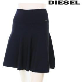 ディーゼル DIESEL ブルームスカート レディース 無地 ストレッチ 台形 Aライン ミニスカート M-SMALT die-l-s-84-035