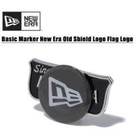 ニュー エラ(NEW ERA)ベーシックマーカー ニューエラオールドシールドロゴ / フラッグロゴ《Black》 ゴルフ/ボールマーカー/[AA-2]