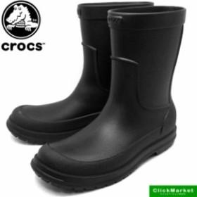 [送料無料]クロックス crocs allcast rain boot オールキャスト レイン ブーツ 204862-060 黒 レインブーツ 長靴 メンズ