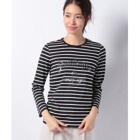 【SALE(三越)】<LA JOCONDE> 【洗える】プリントボーダーTシャツ ネービーブルー 【三越・伊勢丹/公式】