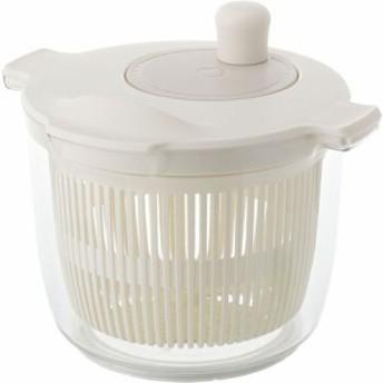 リス 4971881168010 野菜水切り器 リベラタ サラダスピナー 2.3L ホワイト