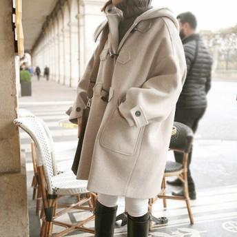 コート チェスターコート レディース ロング ダッフルコート アウター 中綿コート 長袖 あったか 大きいサイズ フードコート 中綿コート 秋物 冬服 カジュアル 可愛い ベージュ