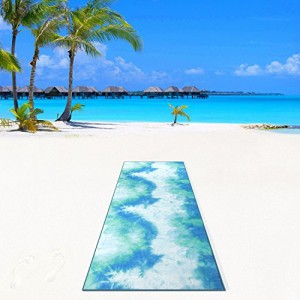 "Océan Aurorae Classic yoga mat 1//4/"" X 72/"""
