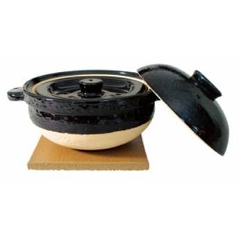 長谷園 伊賀焼窯元 土鍋 ごはん土鍋 かまどさん 2合炊き 直径:210mm  NCT-03(CT-03)