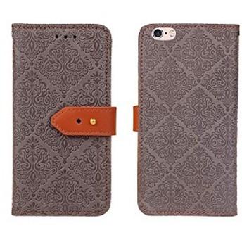 Lace Series 手帳ケース Apple iPhone 6 / 6s (アイフォン6 4.7インチ 用) 手帳型 ケース (グレー) 穴留め式 ストラップ付き ス ...